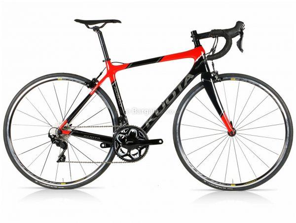 Kuota Kobalt 105 Carbon Road Bike XXS, Black, Red, Carbon Frame, 22 Speed, Caliper Brakes, Double Chainring