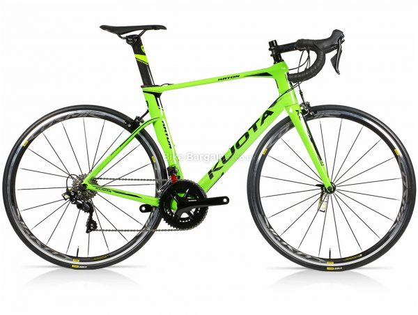 Kuota Kryon 105 Carbon Road Bike XXS, Black, Red, Green, Carbon Frame, 22 Speed, Caliper Brakes, Double Chainring