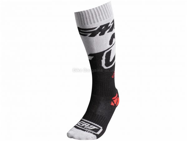 Leatt GPX Socks S, Grey, Black, Unisex, Acrylic, Polyester, Elastane