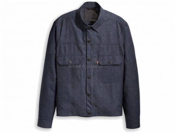 Levi's Commuter Pro Type 2 Trucker AD Jacket S, Grey, Men's, Long Sleeve, Cotton, Polyester