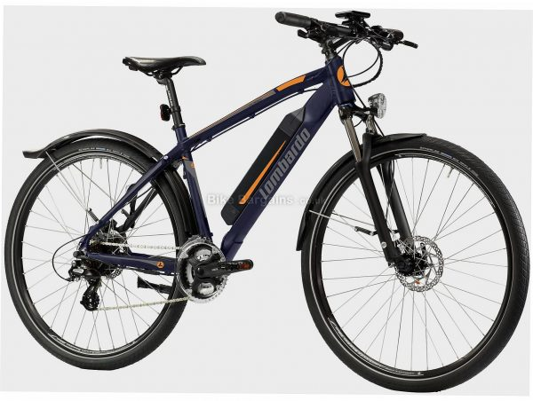 "Lombardo Valderice Fit 20 Alloy Electric Bike One Size, Blue, Black, 21 Speed, Alloy Frame, Men's, Ladies, 29"" wheels, Hardtail, Suspension, Disc, Triple Chainring, 22.9kg"