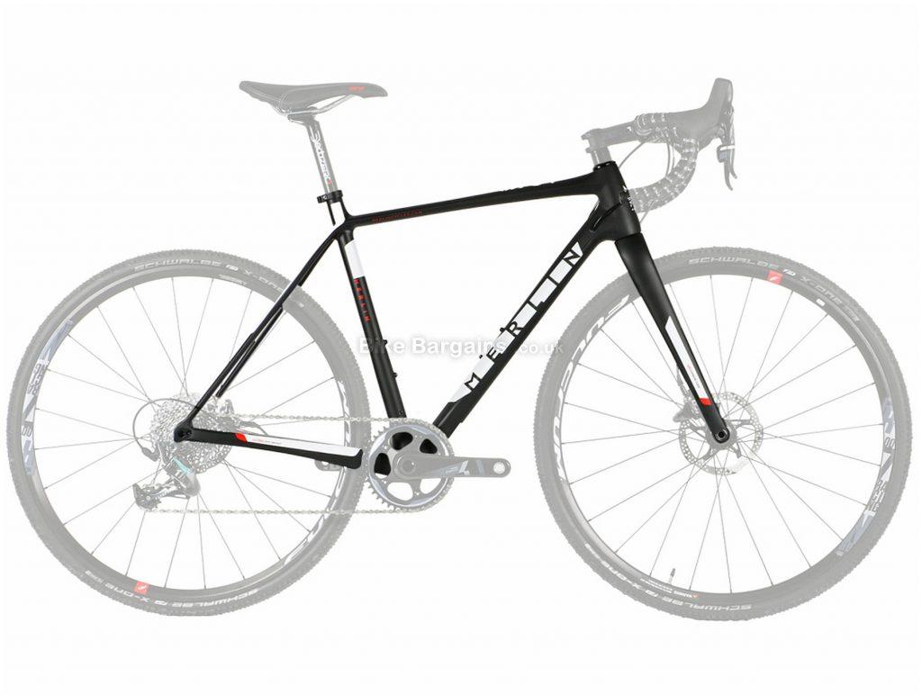 Merlin CX-04 Disc Carbon Cyclocross Frame L, XL, Black, White, Red, Carbon Frame, 700c wheels, Disc Brakes,