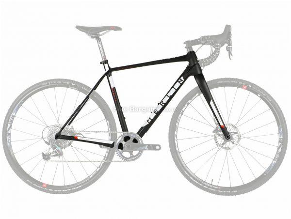 Merlin CX-04 Disc Carbon Cyclocross Frame XL, Black, White, Red, Carbon Frame, 700c wheels, Disc Brakes,