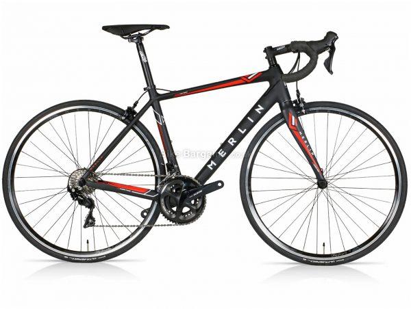 Merlin Cordite 105 Carbon Road Bike 2020 49cm, Black, Red, Carbon Frame, 22 Speed, 700c Wheels, Double Chainring, Caliper Brakes