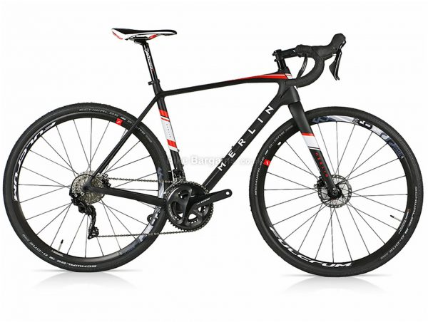 Merlin GX-01 Shimano GRX800 Carbon Gravel Bike S,M,L, Black, White, Red, Carbon Frame, 22 Speed, Disc Brakes, Double Chainring