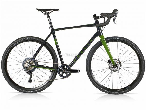 Merlin Malt G2X GRX 810 Alloy Gravel Bike 2021 56cm, 59cm, Black, Green, Alloy Frame, 11 Speed, Disc Brakes, Single Chainring