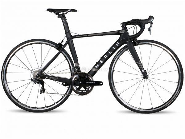 Merlin Nitro Aero Ultegra R8050 Di2 Carbon Road Bike 56cm, Black, Grey, Red, Carbon Frame, 11 Speed, Caliper Brakes, Double Chainring