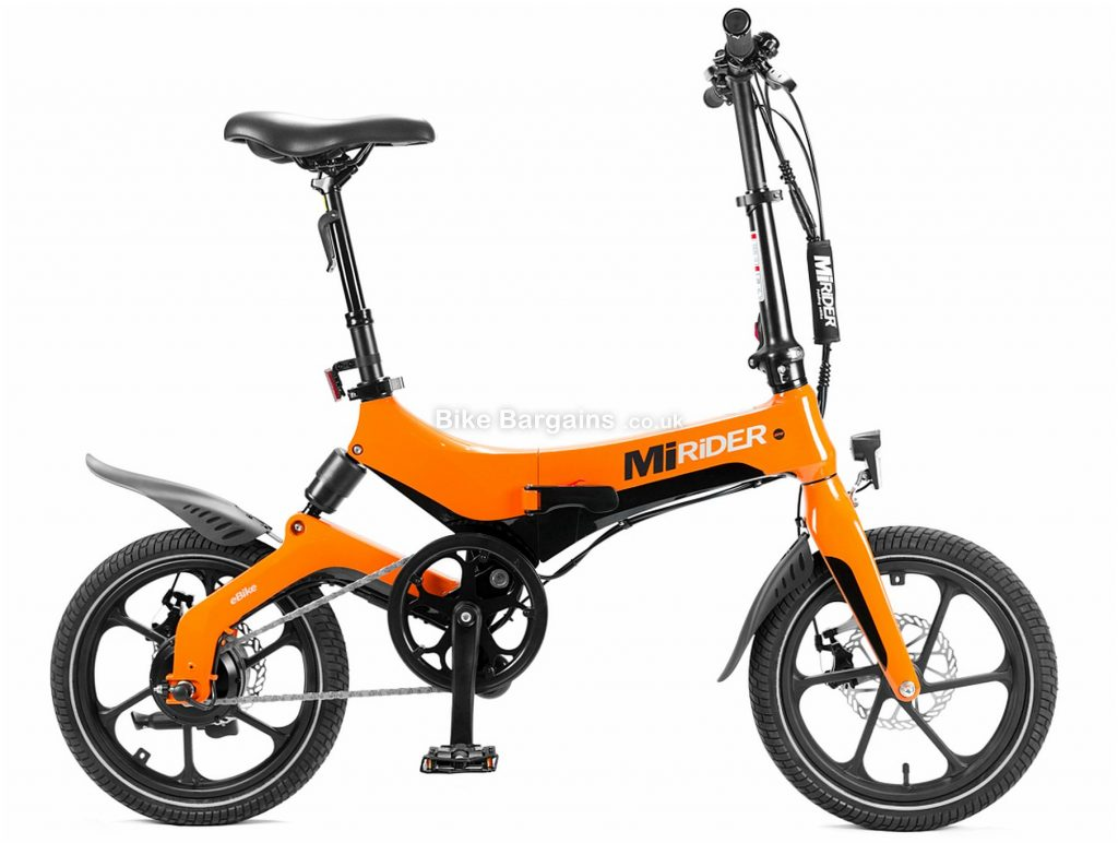 MiRiDER One Folding Alloy Electric Bike 2020 One Size, White, 18.8kg, Alloy Frame, Single Speed, Disc Brakes, Single Chainring