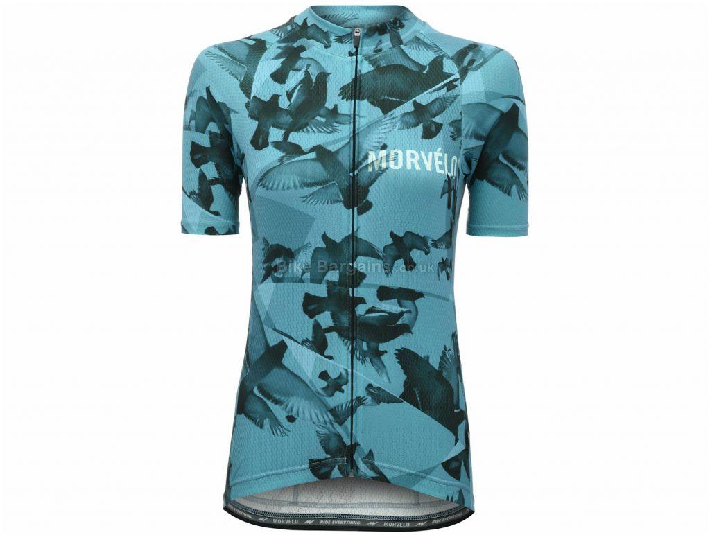 Morvelo Ladies Columbidae Short Sleeve Jersey XL, Blue, Ladies, Short Sleeve, Polyester