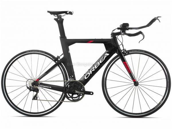Orbea Ordu M30 Carbon Triathlon Bike 2019 S, Black, Red, 700c wheels, Caliper Brakes, 22 Speed, Double Chainring, Carbon Frame