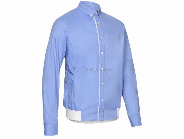 Primal Goodman Button Down Long Sleeve Shirt S, Blue, Men's, Long Sleeve, Cotton, Polyester, Spandex