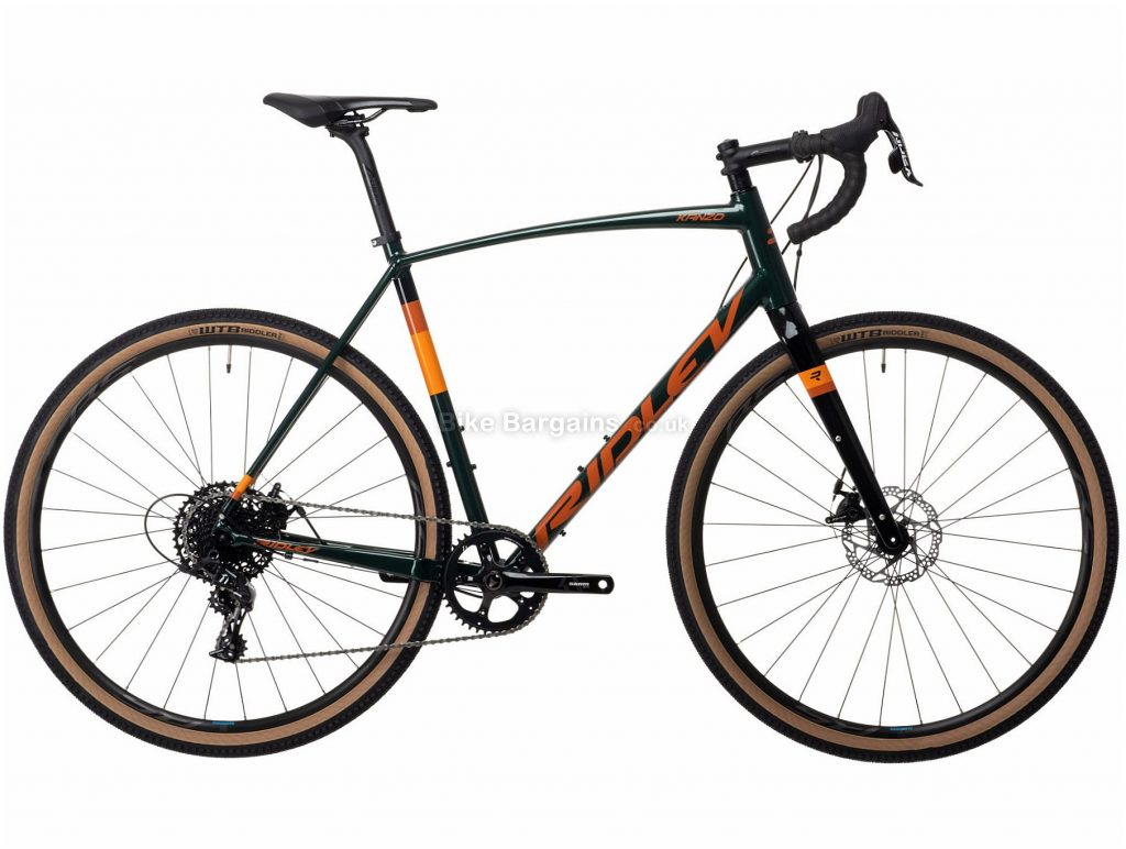 Ridley Kanzo A Apex 1 Alloy Adventure Gravel Bike 2021 S, Green, Orange, 11 Speed, Alloy Frame, Men's, 700c wheels, Disc, Single Chainring
