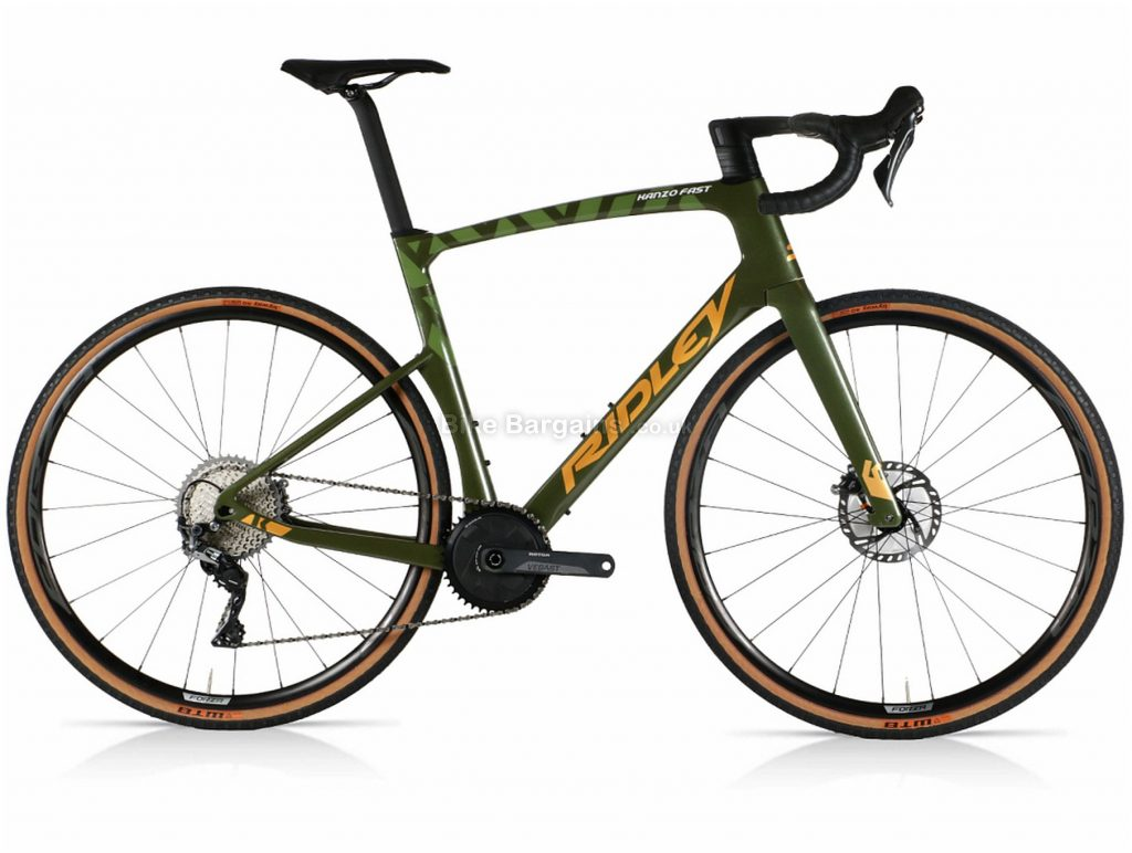 Ridley Kanzo Fast GRX Aero Carbon Gravel Bike S,M, Grey, Green, Carbon Frame, 11 Speed, Disc Brakes, Single Chainring