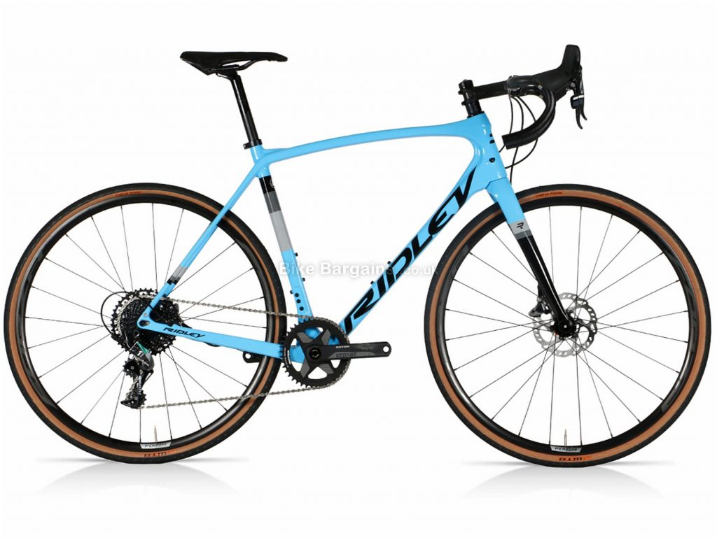 Ridley Kanzo Speed Force 1 Carbon Gravel Bike S, M, L, Blue, Grey, Black, Carbon Frame, 11 Speed, 700c wheels, Disc Brakes, Single Chainring