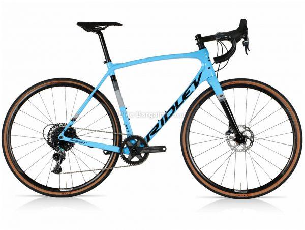 Ridley Kanzo Speed Force 1 Carbon Gravel Bike L, Blue, Grey, Black, Carbon Frame, 11 Speed, 700c wheels, Disc Brakes, Single Chainring