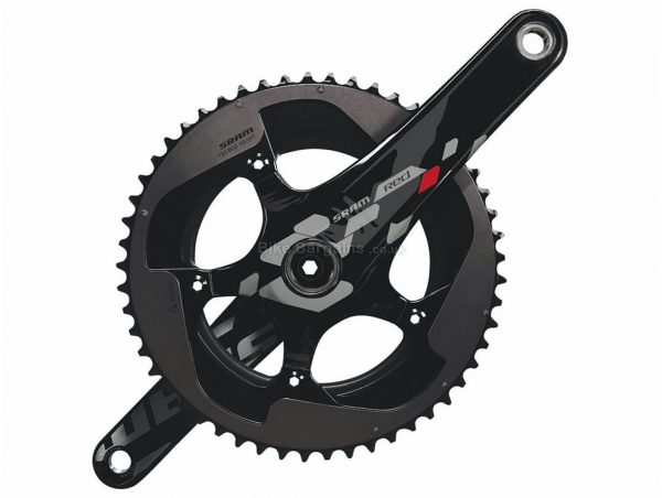 SRAM Red Exogram 10 Speed Carbon Double Chainset 175mm, 10 Speed, Black, Double Chainring, Carbon, 609g