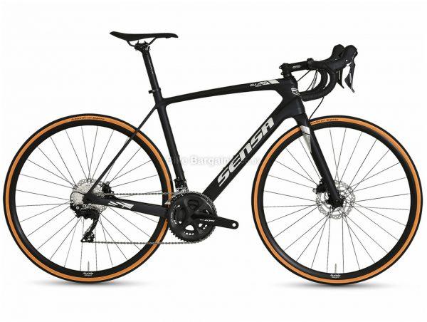 Sensa Giulia G3 Disc 105 Carbon Road Bike 2021 53cm, Black, Silver, Carbon Frame, 22 Speed, Disc Brakes, Double Chainring