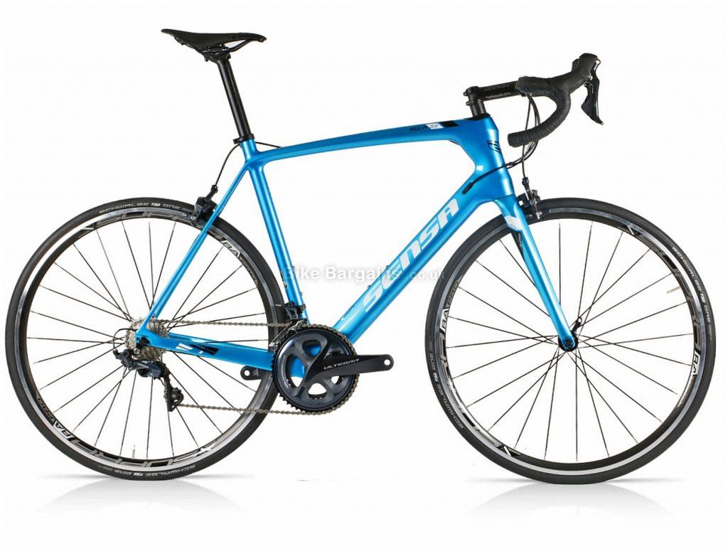 Sensa Giulia G3 Evo Ultegra Carbon Road Bike 2021 50cm, 53cm, 55cm, Blue, Carbon Frame, 22 Speed, Caliper Brakes, Double Chainring
