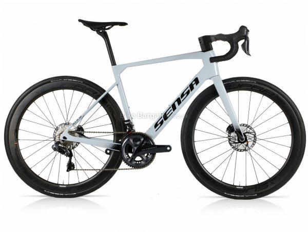 Sensa Giulia GF Ultegra Di2 Carbon Road Bike 2021 58cm, Grey, Black, Carbon Frame, 22 Speed, Disc Brakes, Double Chainring