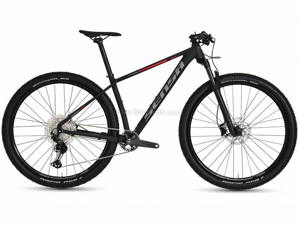 """Sensa Merano Evo SLE Alloy Hardtail Mountain Bike 2021 17"""",19"""",21"""", Black, Alloy Frame, 12 Speed, Disc Brakes, Single Chainring"""