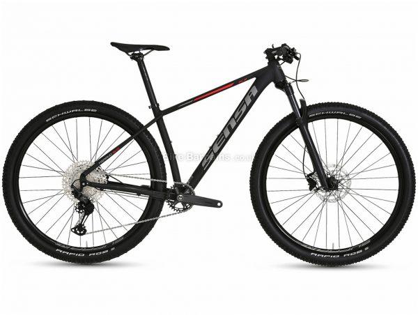 """Sensa Merano Evo SLE Alloy Hardtail Mountain Bike 2021 19"""",21"""", Black, Alloy Frame, 12 Speed, Disc Brakes, Single Chainring"""