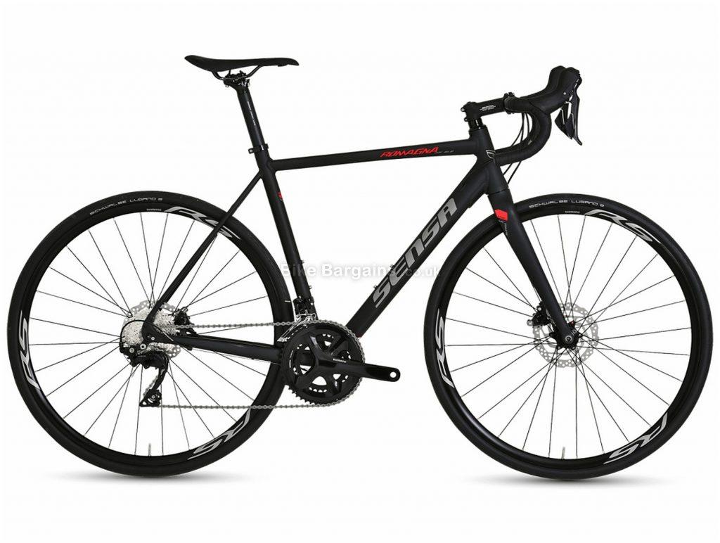 Sensa Romagna Disc SLE Alloy Road Bike 2020 56cm, 58cm, Black, Grey, Red, Alloy Frame, 22 Speed, Disc Brakes, Double Chainring