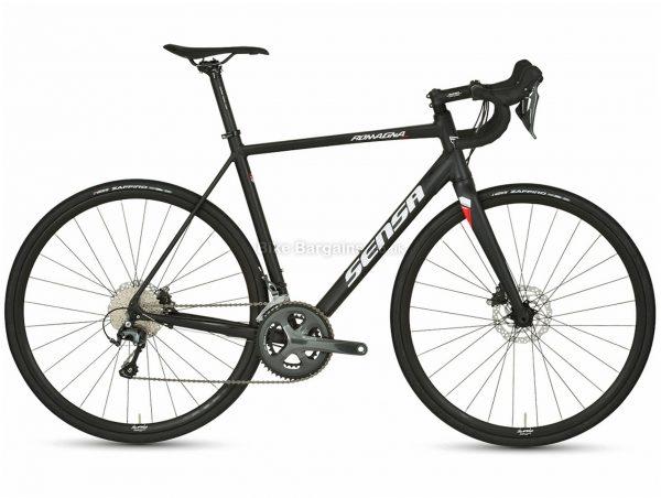 Sensa Romagna Disc Tiagra Alloy Road Bike 2021 54cm, Black, White, Red, Alloy Frame, 20 Speed, Disc Brakes, Double Chainring
