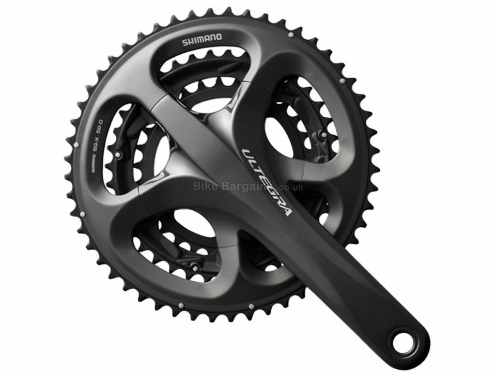 Shimano Ultegra 6703 10 Speed Triple Chainset 175mm, 10 Speed, Black, Triple Chainring, Alloy, 785g
