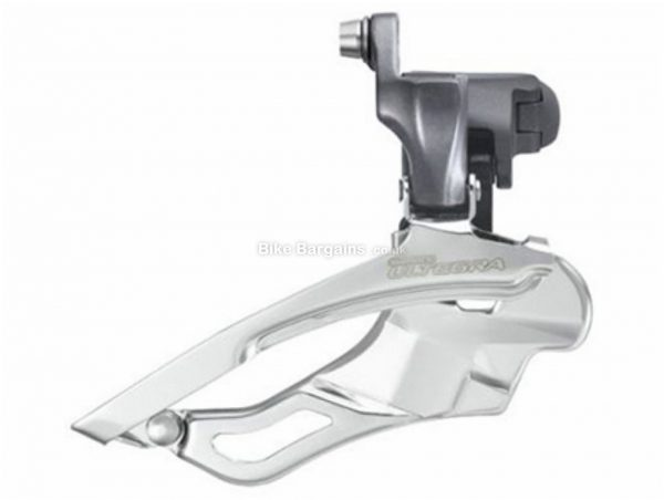 Shimano Ultegra FD-6703 Triple Front Derailleur 31.8mm, 34.9mm, Black, Silver, 10 Speed, Triple Chainring, Road & Gravel usage, 89g