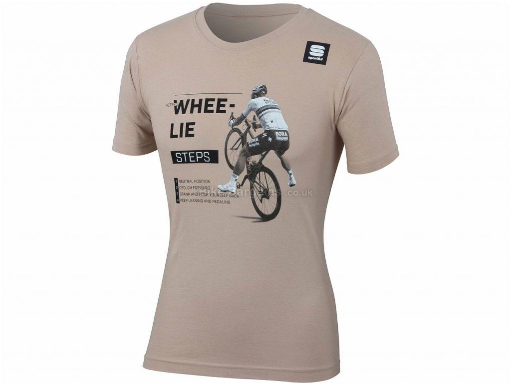 Sportful Sagan Whee-Lie T-Shirt XXXL, Brown, Grey, Men's, Short Sleeve, Cotton