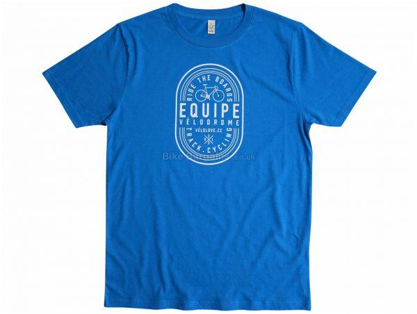 Velolove Equipe Velodrome Organic T-Shirt S, Blue, Men's, Short Sleeve, Cotton