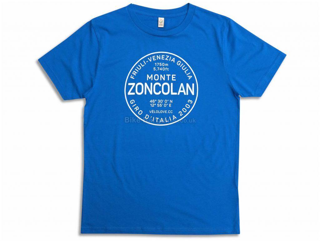 Velolove Monte Zoncolan Organic T-Shirt S, Blue, Men's, Short Sleeve, Cotton
