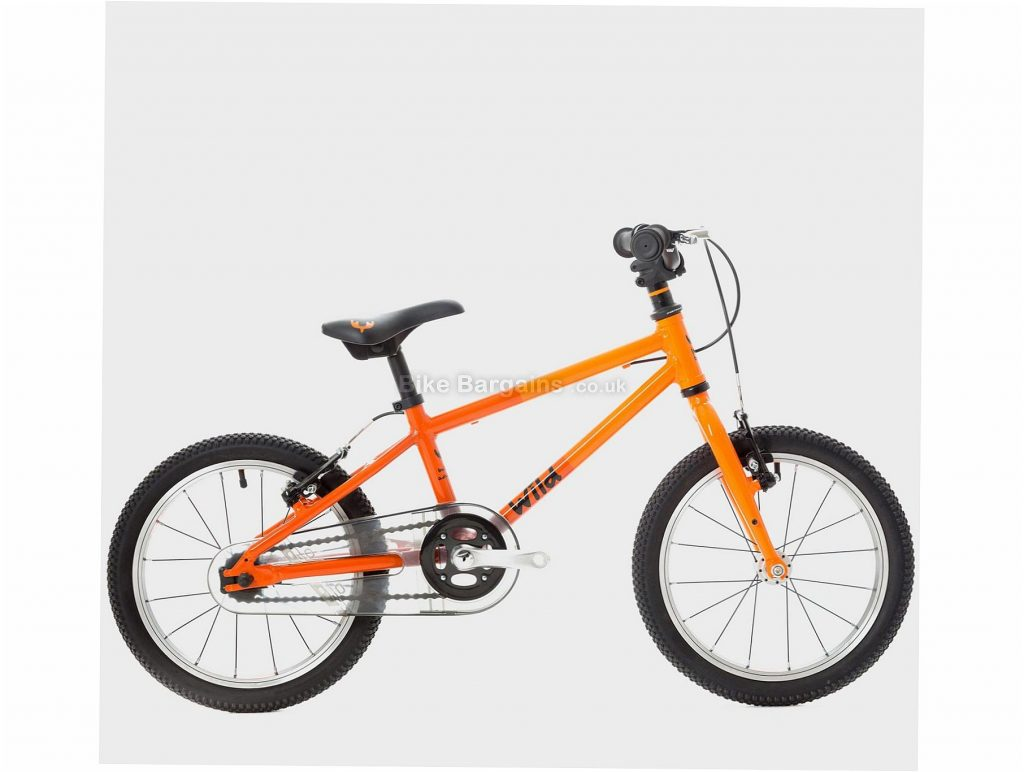 "Wild Bikes Wild 16"" Alloy Kids Bike One Size, Orange, Single Speed, Alloy Frame, 16"" wheels, Rigid, Hardtail, Caliper Brakes, Single Chainring, 6.3kg"