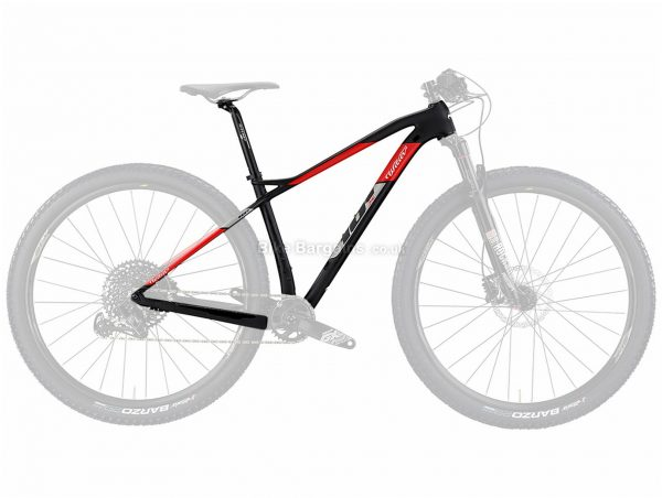 "Wilier 101X XT Carbon Hardtail MTB Frame S, Black, Red, Green, 29"" Wheels, Carbon Frame"