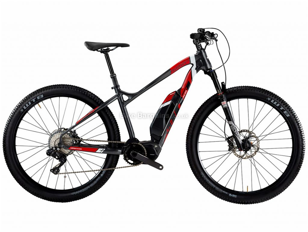 "Wilier 803 XN Comp SLX Alloy Hardtail Electric Mountain Bike 2021 XL, Grey, Black, Red, Alloy Hardtail Frame, 11 Speed, 29"" wheels, Disc Brakes, Single Chainring"