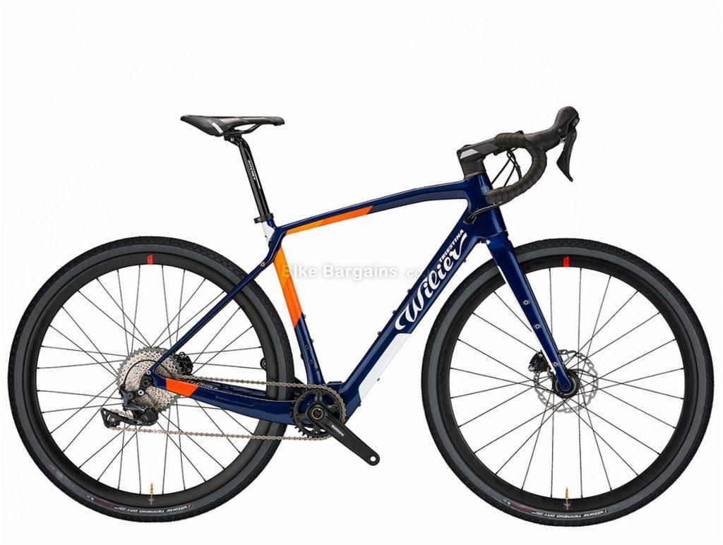Wilier Jena Hybrid GRX Carbon Electric Gravel Bike M, Blue, Orange, 700c wheels, Disc Brakes, 11 Speed, Single Chainring, Carbon Frame