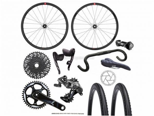 3T Exploro Gravel Build Kit L, Black, 11 Speed, Gravel, 650c wheels, Single Chainring, 11 Speed, Alloy
