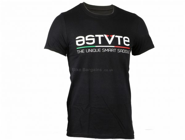 Astute Logo T-Shirt M,L, Black, Short Sleeve, Cotton
