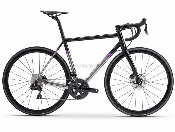 Boardman SLR Titanium 9.6 Road Bike 2020 XS, Grey, Black, 700c wheels, Disc, 22 Speed, Double Chainring, Titanium