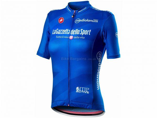 Castelli Giro 103 Competizione Ladies Short Sleeve Jersey S,M,L,XL, Blue, White, Pink, Black, Ladies, Short Sleeve, weighs 100g, Polyester, Elastane