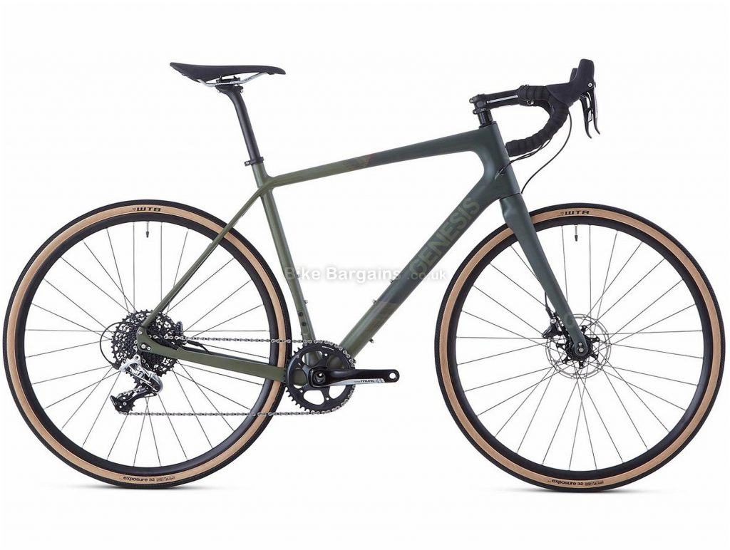Genesis Datum Carbon Gravel Bike 2020 54cm, 58cm, Grey, 700c wheels, Disc, 11 Speed, Single Chainring, 9.48kg, Carbon