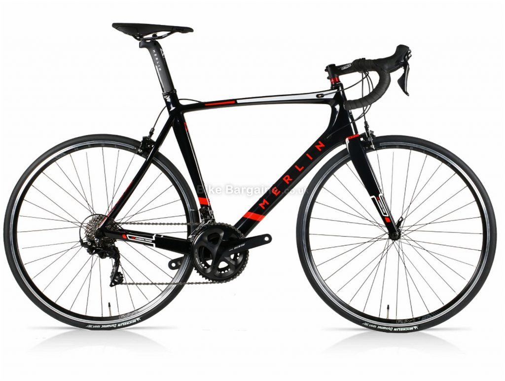 Merlin Nitro Aero 105 Carbon Road Bike 2020 54cm, 56cm, 58cm, Black, Red, 22 Speed, 700c wheels, Caliper Brakes, Double Chainring, Carbon