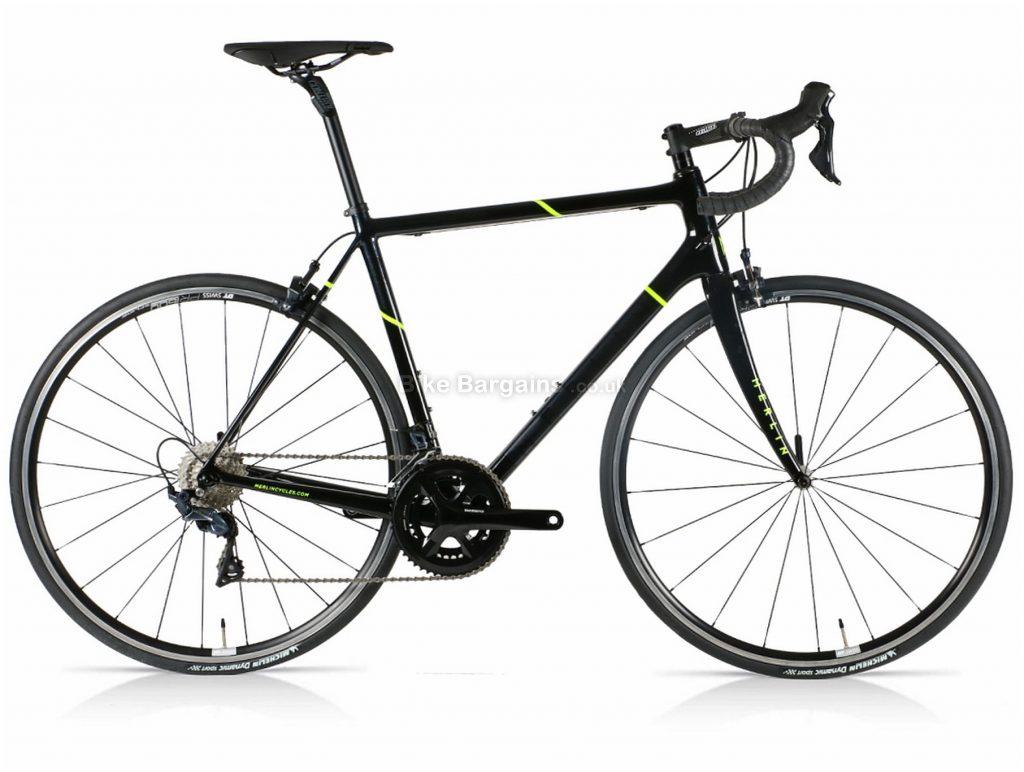 Merlin Nitro SL DT Ultegra Carbon Road Bike XL, Grey, Yellow, Carbon Frame, 22 Speed, 700c wheels, Double Chainring, Caliper Brakes