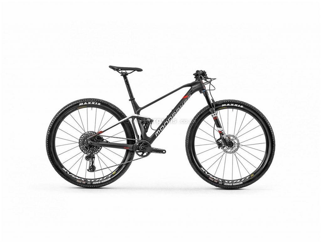 "Mondraker F-Podium Carbon 29"" Full Suspension Mountain Bike 2020 M, Black, White, Red, 29"" wheels, Disc, 12 Speed, Single Chainring, Full Suspension, 11.49kg, Carbon"