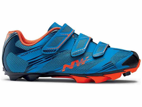 Northwave Scorpius 2 MTB Shoes 2018 39, Blue, Orange, Velcro Fastening, Carbon, Velcro