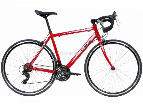 Orus Corsa Alloy Road Bike 54cm, Red, 700c wheels, Caliper Brakes, Triple Chainring, Alloy, 21 Speed