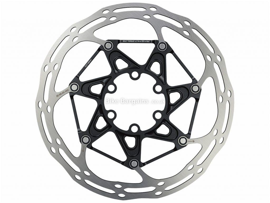 SRAM Centerline 2 Piece 6 Bolt Disc Rotor 140mm, Silver, Black, Steel