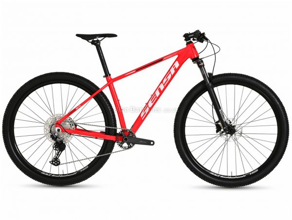 "Sensa Livigno Evo Limited Sport Alloy Hardtail Mountain Bike 2021 17"",19"", Red, Black, Alloy Frame, 29"" wheels, Hardtail, 11 Speed, Disc Brakes, Single Chainring"