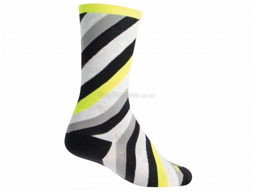 """SockGuy 6"""" Classic Socks S,M, Green, Polyester, Elastane"""