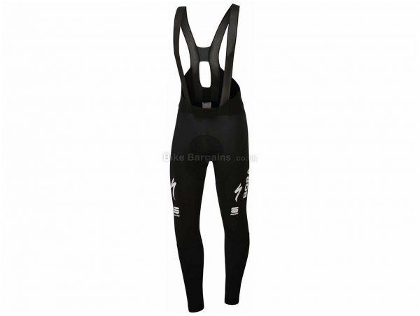 Sportful Bora Hansgrohe BodyFit Pro Bib Tights XXXL, Black, Men's, weighs 287g, Lycra, Polyester